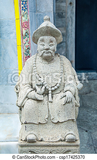 Carving stone of doll chinese style - csp17425370