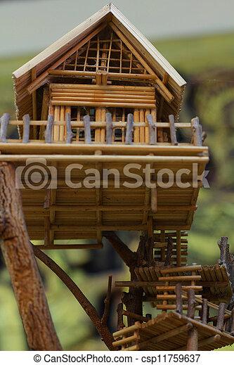 casa, árbol - csp11759637