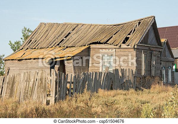 casa, abandonado, aldea - csp51504676