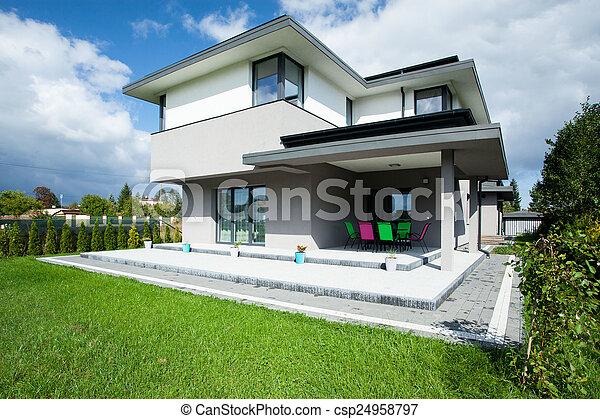 casa, alpendre - csp24958797