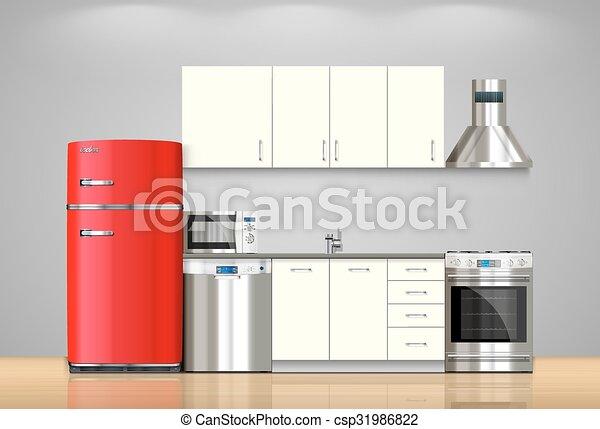 Cocina y electrodomésticos - csp31986822