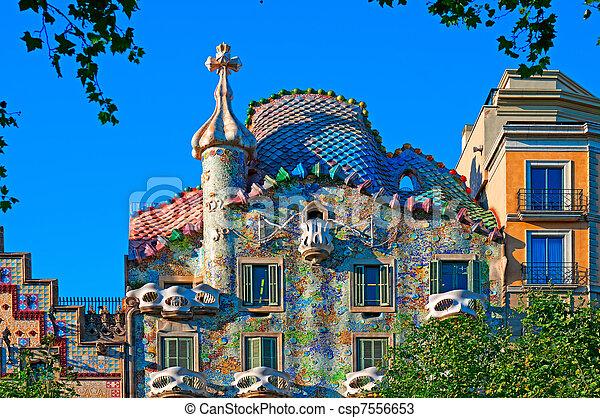 Casa Batllo, Barcelona - Spain - csp7556653