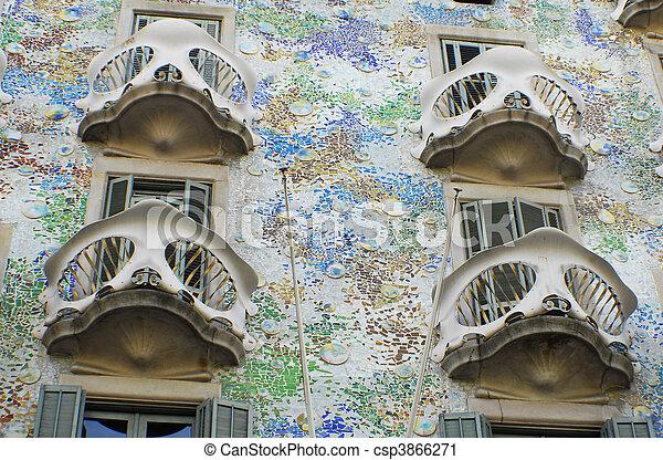 Casa Batllo by Antoni Gaudi  - csp3866271