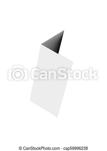Casa de cartón aislada en blanco - csp59996238