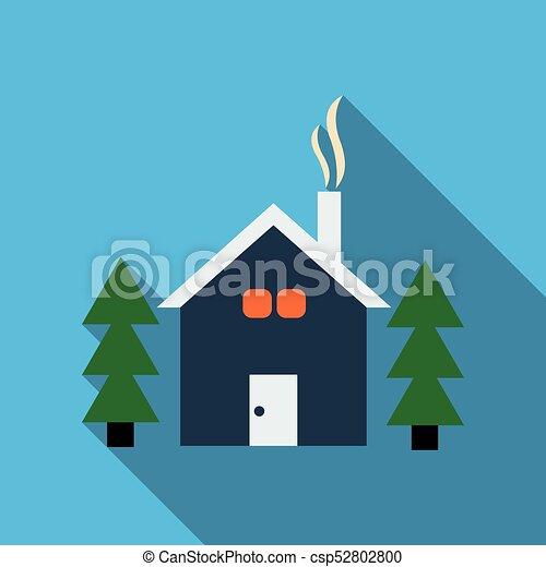 Casa, bosque de árbol, pino, navidad clipart vectorial - Buscar ...