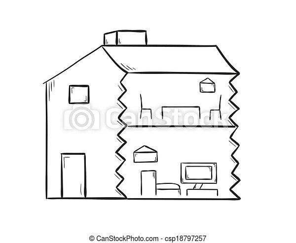 Escotilla de la casa - csp18797257