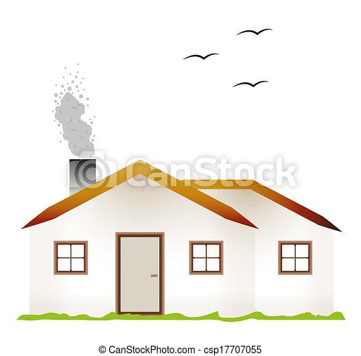 Casa camino fumo tre case fondo fumo bianco for Disegni camino casa
