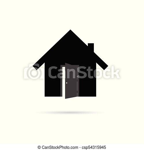 icono con puerta abierta - csp54315945