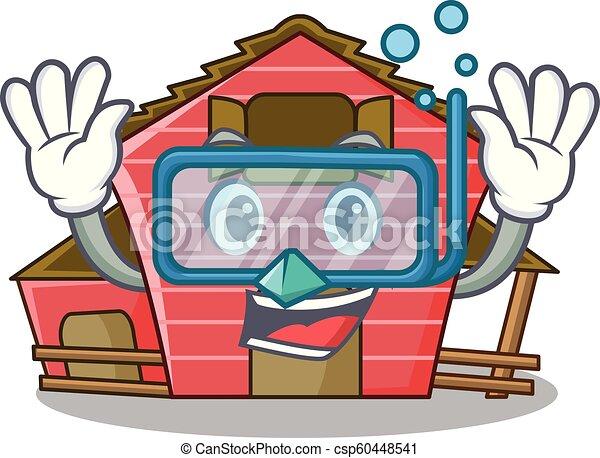 Inmersión de un dibujo de personajes de la casa roja - csp60448541