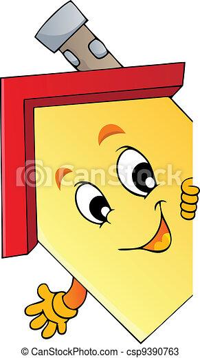 casa, caricatura, espreitando - csp9390763