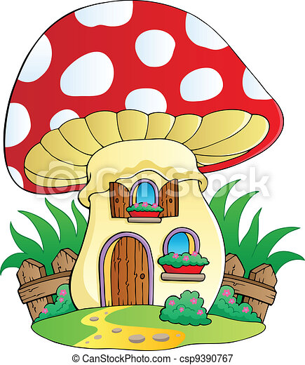 Casa cartone animato fungo illustration fungo casa - Cartone animato immagini immagini fantasma immagini ...