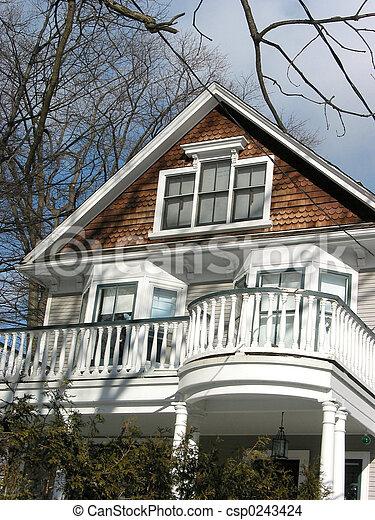 Un balcón casero - csp0243424