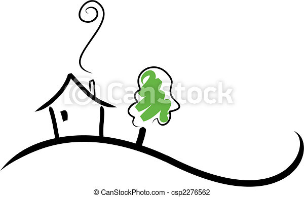 casa, collina - csp2276562