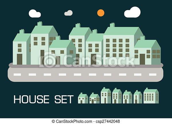 House puso el concepto de tono verde - csp27442048