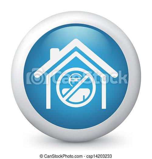 El icono de la protección de la casa - csp14203233