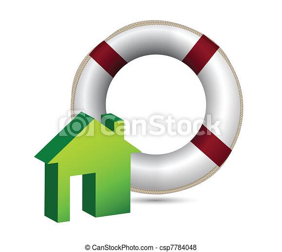 El concepto de seguro de casa - csp7784048