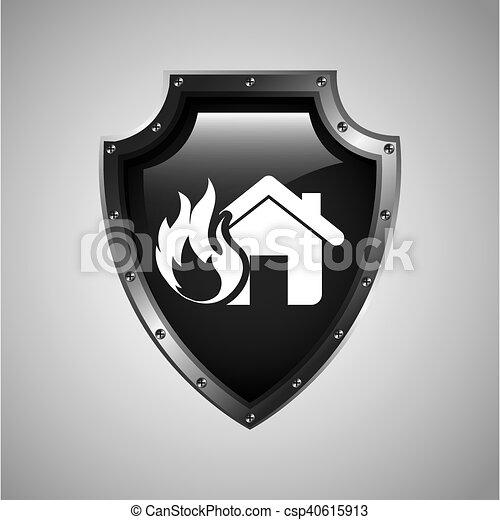 El icono del concepto de seguro de la casa - csp40615913
