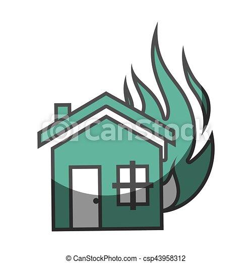 El icono del concepto de seguro de la casa - csp43958312