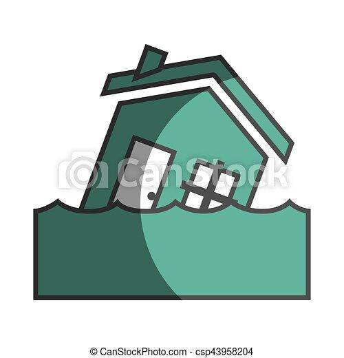 El icono del concepto de seguro de la casa - csp43958204