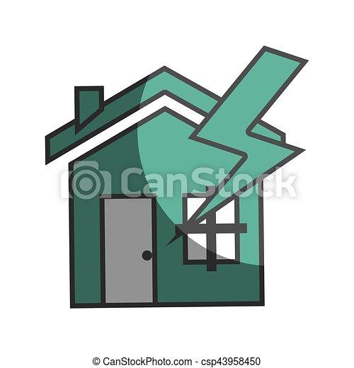 El icono del concepto de seguro de la casa - csp43958450