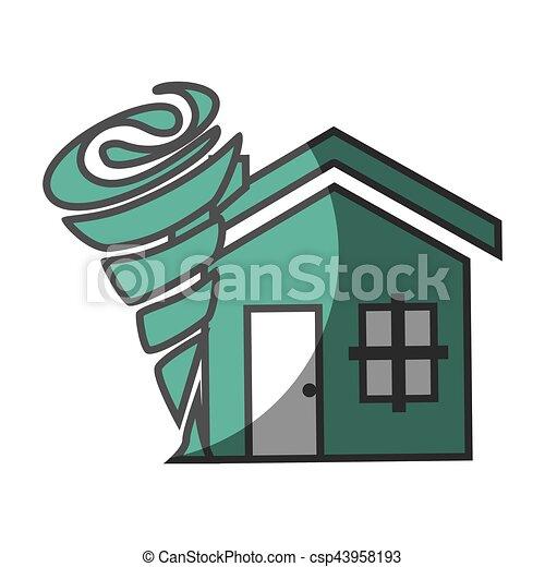 El icono del concepto de seguro de la casa - csp43958193