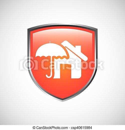 El icono del concepto de seguro de la casa - csp40615984