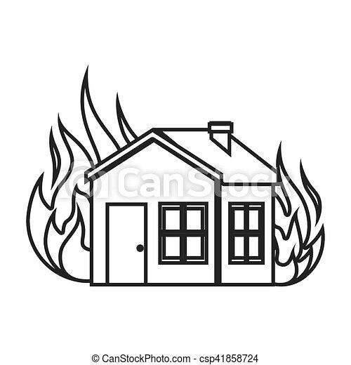 El icono del concepto de seguro de la casa - csp41858724