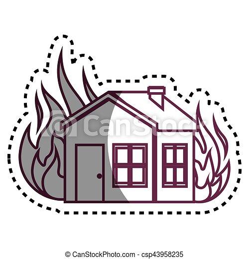 El icono del concepto de seguro de la casa - csp43958235