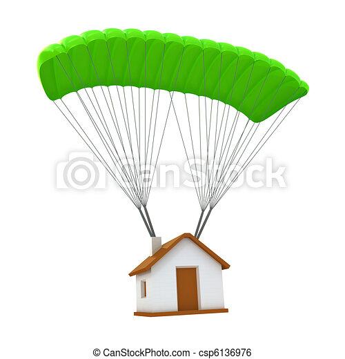 El concepto de seguro de casa - csp6136976