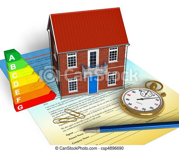 casa, concetto, noleggio - csp4896690