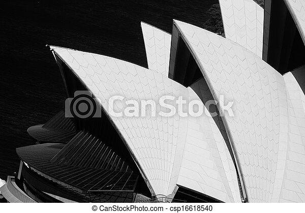 El primer plano de la ópera de Sydney - csp16618540