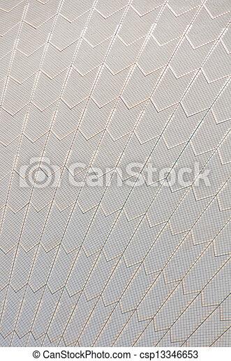 Tejas de techo, ópera de Sydney - csp13346653