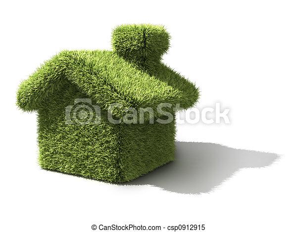 casa, ecologia, verde - csp0912915