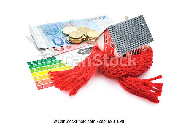 El concepto de eficiencia de energía de la casa - csp16931698