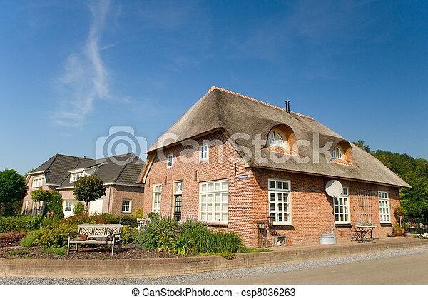 casa fattoria, tipico, olandese - csp8036263