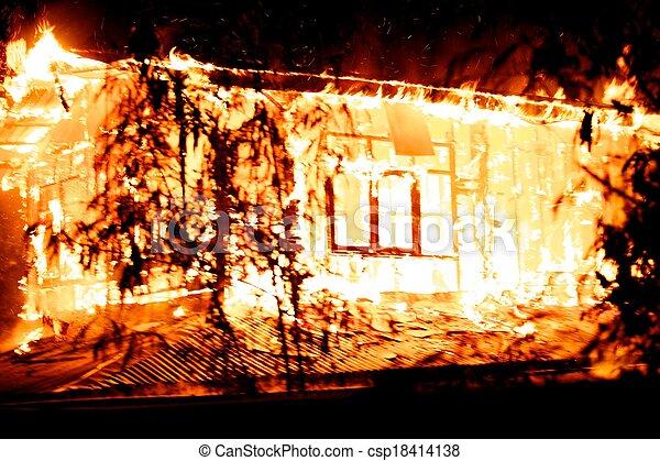 casa, fire. - csp18414138