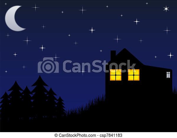 casa, foresta - csp7841183