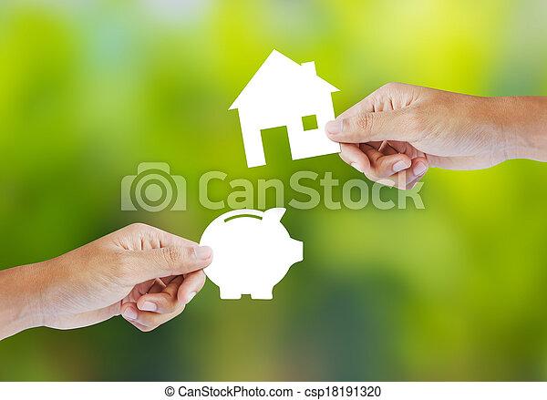 casa, forma, cofre - csp18191320