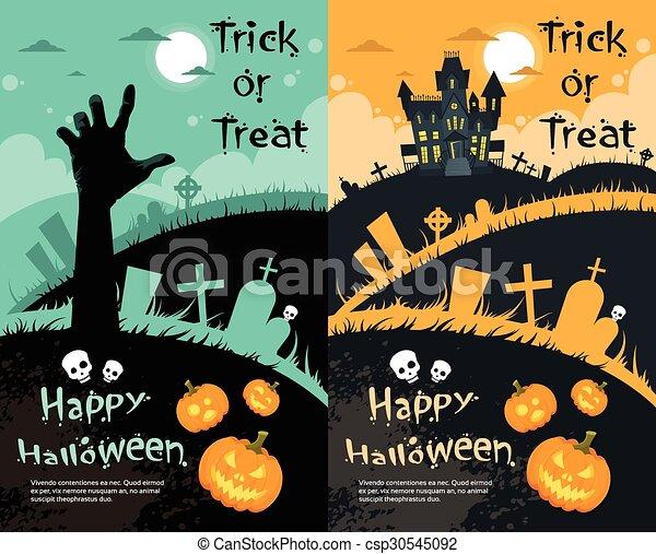 Tarjeta De Invitación Para La Fiesta De Halloween La Casa
