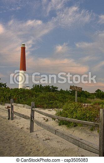 casa, ilha, longo, luz, novo, praia, jersey - csp3505083