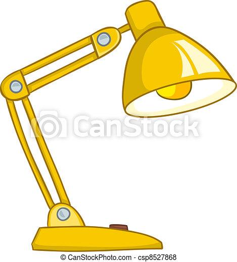 casa, lampada, cartone animato - csp8527868