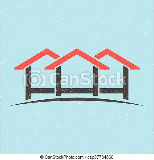 casa, logo., gruppo, case - csp37734860