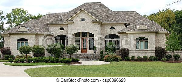 casa, lujo - csp0396623
