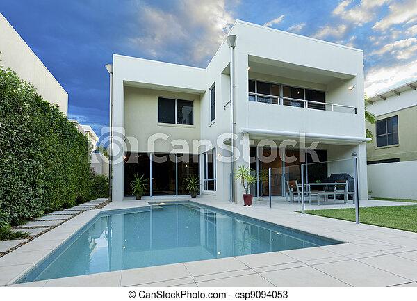 casa, lussuoso - csp9094053