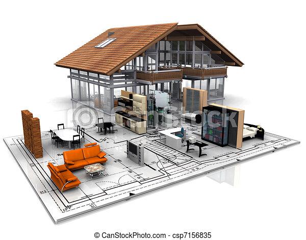Modelo de casa - csp7156835