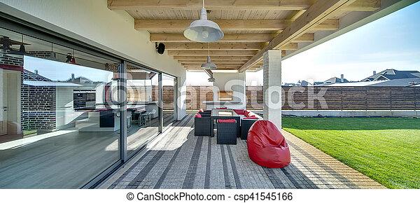 Casa Moderno Terraza País