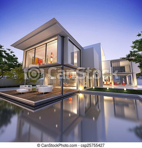 casa, nid1, cubo - csp25755427