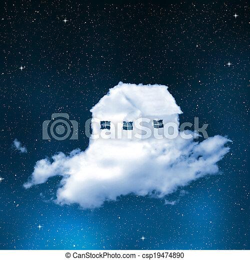 La casa de las nubes - csp19474890