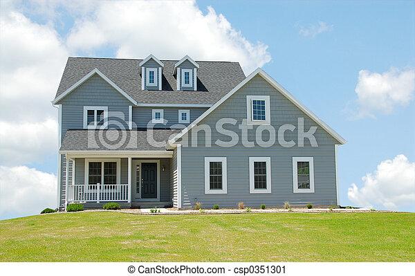 casa, nuvens - csp0351301