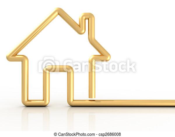 casa, oro - csp2686008